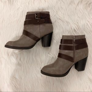 Taupe Boots w/ Block Heel